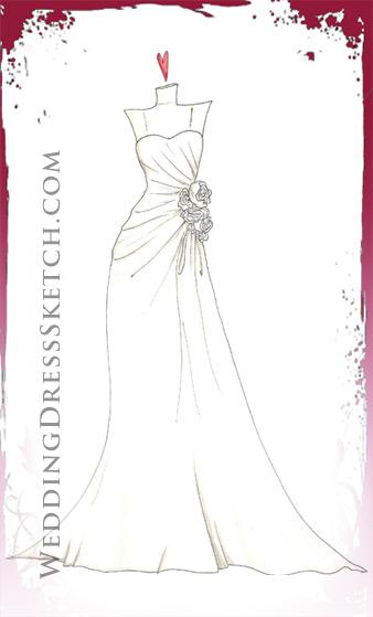 Sketch Details | Wedding Dress Sketch - Custom Fashion Illustration ...